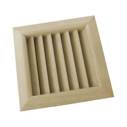 mreža drevená vetracia nábytková štvorcová, LGES 100x100, šikmé lamely, nelakovaná