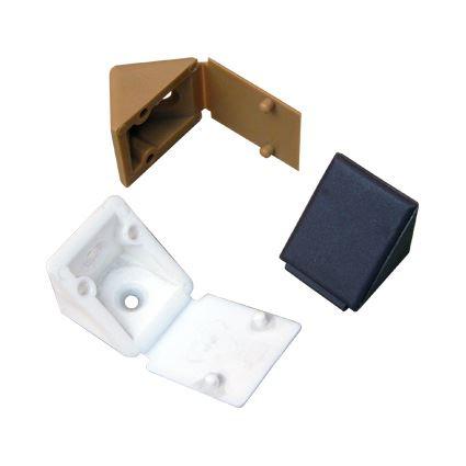 plastový rožek s krytkou ke spojení polic a nábytku, malý 20x20mm