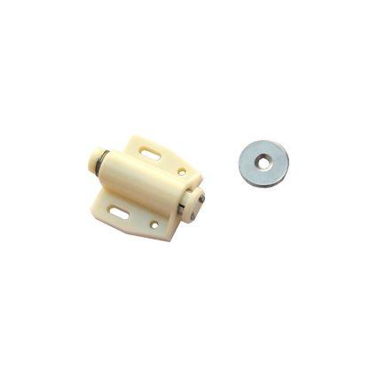sklapka magnetická bočná, magnet k aretáciu nábytkových dvierok v uzavretej polohe, bez úchytiek mechanizmus