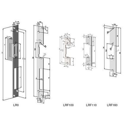 protiplech k elektrickému zámku, lišta LR0 rovná, BEFO, zinek