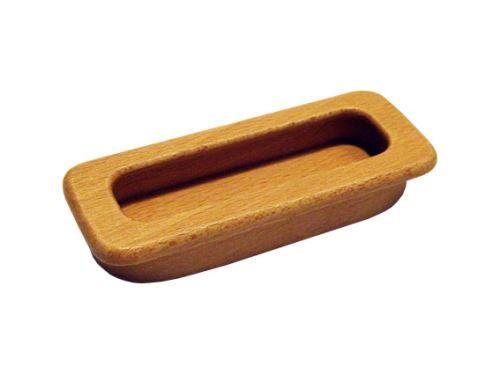nábytková úchytka dřevěná do posuvných dveří, zápustné obdélníkové madlo 42, délka 85 (107)mm