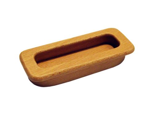 nábytková úchytka drevená do posuvných dverí, zapustené obdĺžnikové madlo 42/43, dĺžka 85 (107)mm