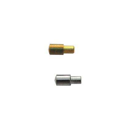 nábytková policová podpierka kovová, do dierky 5mm, vonkajší priemer 7mml