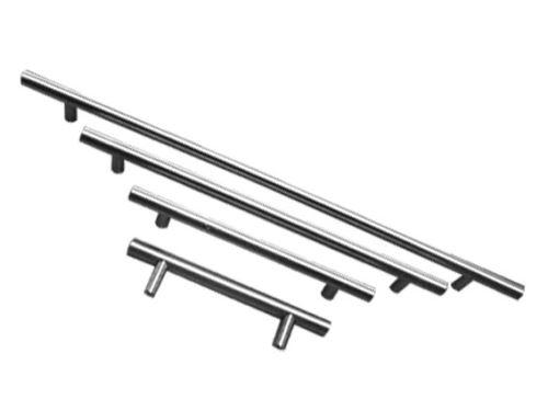 nábytková úchytka, madlo, kovová hrazda průměr 12mm, lesklý chrom, šest velikostí