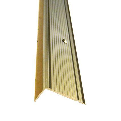 ochranná lišta na hranu schodu k přišroubování, profil 45 x 23 mm, eloxovaný hliník