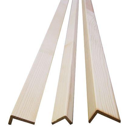 """dřevěná masivní lišta smrk roh, profil """"L"""", cena za 1 ks"""