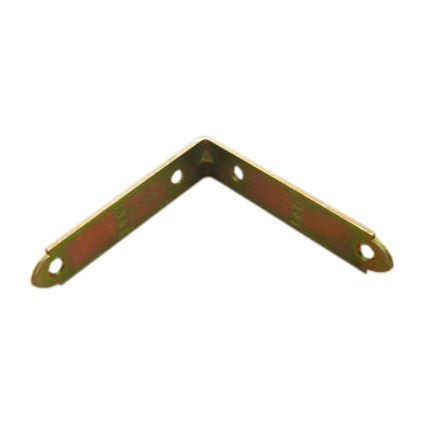 úhelník pro spojení trámků úzký KW, se středovou výstuhou, masivní, žlutý zinek