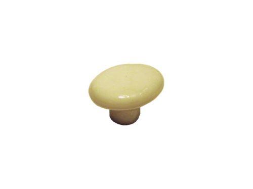 nábytková retro úchytka, porcelánová knopka 3383, ovál 15 na 35mm