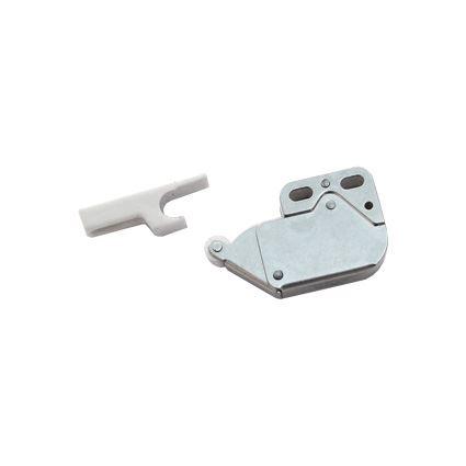 sklapka - záskočka k nábytkovým dvierkam MINI LATCH, bezúchykový mechanizmus bočný