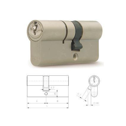 bezpečnostní cylindrická vložka FAB 200 BD 29+35mm, proti odvrtání, 3. třída bezpečnosti, 5 klíčů