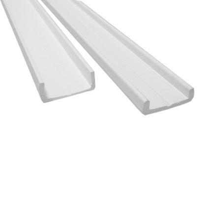 plastová nábytková lišta pro posuvná dvířka široká 2m, bílá