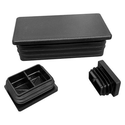 obdĺžniková plastová čierna záslepka do hranatých profilov