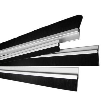 bytový těsnící kartáč pod dveře s bočním uchycením hliníkové lišty Stribo 1 m (tvar I), výšky vlasu 14 až 45mm