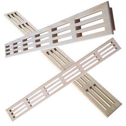 mříž dřevěná větrací nábytková, LG 60x550 nelakovaná