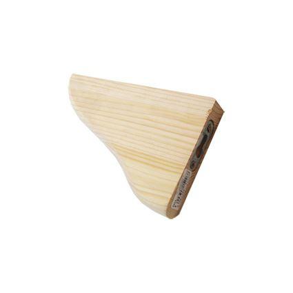 úhelník pod police, dřevěný držák polic z borovice