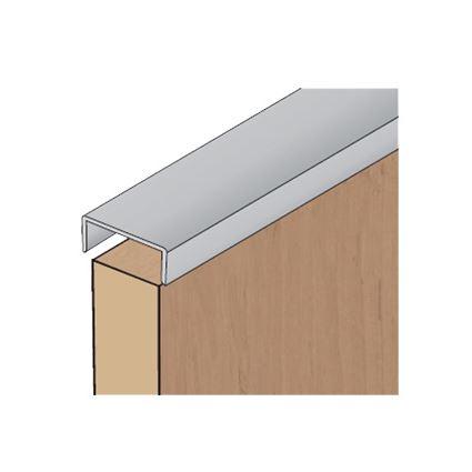 hliníková nábytková lišta, krajová zakončovací nasazovací hrana AL na lamino 18mm, délka 2 a 3 m, cena za ks