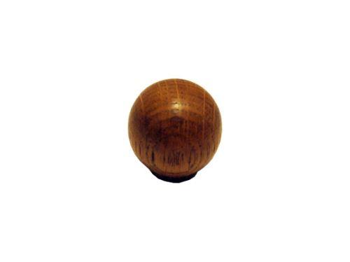 nábytková úchytka (knobka) dřevěná lakovaná s metrickým závitem, knopka 54