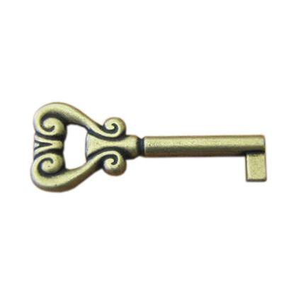 samotný retro klíček k nábytkovým dvířkům obyčejný, 01, starozlato