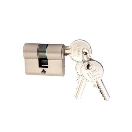 stavební cylindrická zkrácená vložka EURO minus, 2. třída bezpečnosti, 3 klíče