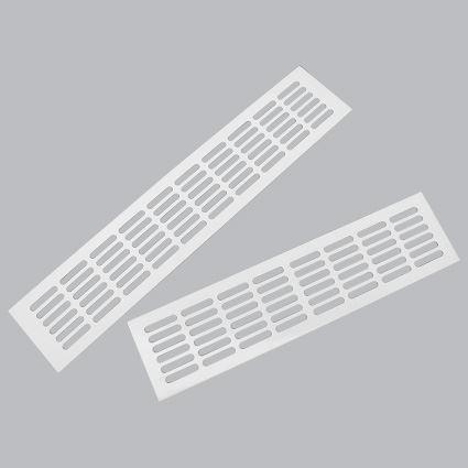 mříž hliníková větrací nábytková barva bílá , šířka 100mm