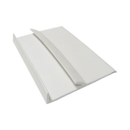 zadní těsnící hrana pracovní desky, zakončení ke stěně gumové bílé, cena za 1m