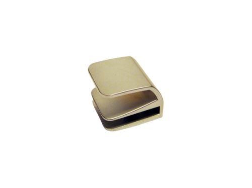 nábytková úchytka kovová, nasouvací madlo na sklo SISO, na jedno skleněné křídlo, matný nikl