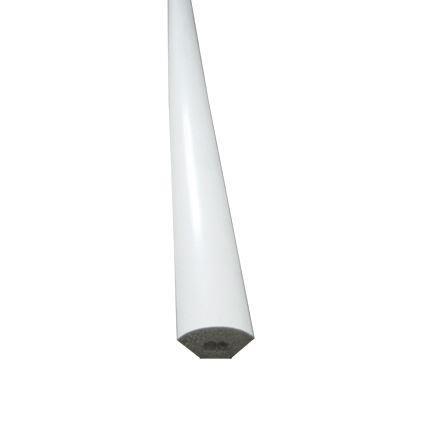 polyuretánová lišta s fóliou začisťovacia, vnútorný roh, štvrťkruh 14x14mm, dĺžka 2,7m