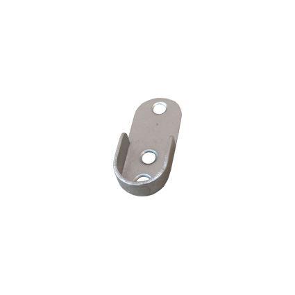 držák šatní tyče, kovová podpěra do boku skříně pro tyč, oválná, průměr 15mm
