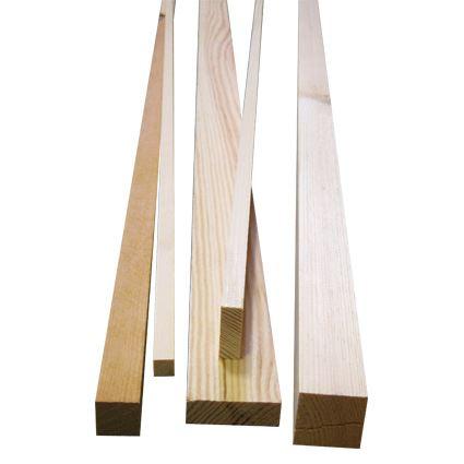 dřevěná masivní lišta, hranol borovice,  cena za 1m, délka 2m
