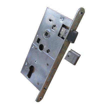 bezpečnostní zadlabací dveřní zámek na vložku Rostex 80 s háčky
