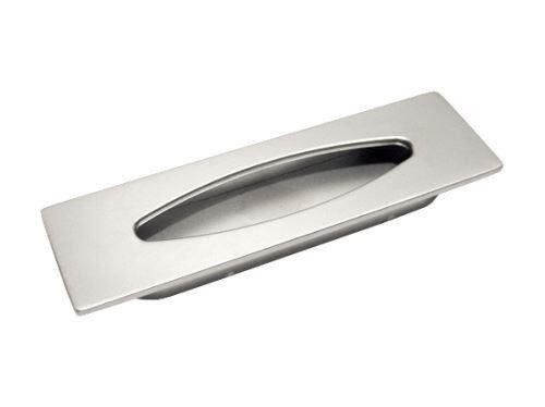 nábytková úchytka kovová do posuvných dverí, zapustené hranaté madlo Milada, rozteč 96mm