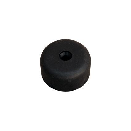 kluzná nožka pod nábytek kruhová s otvorem pro vrut, plastový, výška 20mm, průměr 40mm