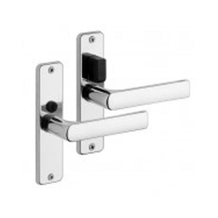 kování na panelákové dveře k jádru, klika Rostex 804 mezipokojová, barva lesklý chrom, s WC kličkou nad klikou