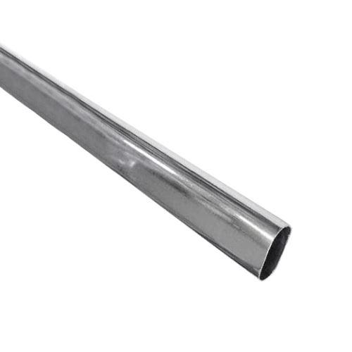 šatní tyč do skříně, chrom,  oválná 15x30mm, lze dodat v délkách  1  a 3m