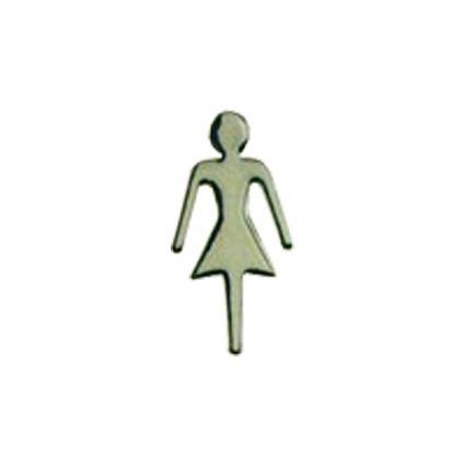 logoprint, samolepiaci rozlišovaci piktogram na dvere - WC panáčik, bábika
