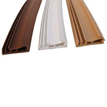 těsnící profil pro venkovní i interiérové dveře a okna, všechny typy nátěrů, AC 5250, výška profilu (falcu) 15mm, drážka 5mm, mezera 5mm