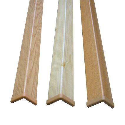 ochrana rohu stěny proti poškozeníí, roh dřevo s folií a horním zakončením 30x30mm,vhodný k nalepení, délka 1,45m