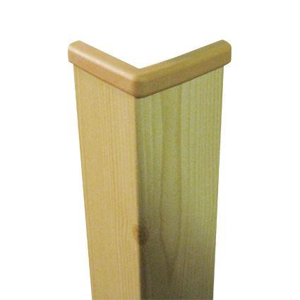ochrana rohu stěny proti poškození , roh dřevo s folií a horním zakončením 40x40mm,vhodný k nalepení, délka 1,45m