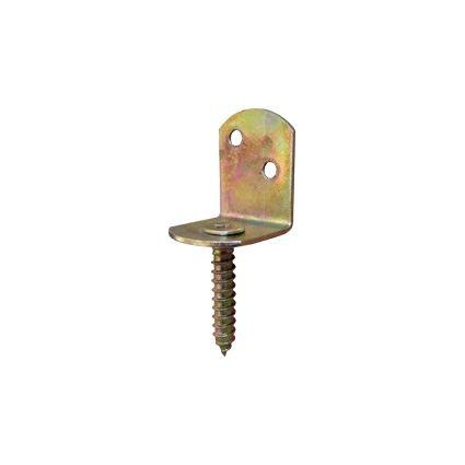 rektifikačná pätka k stĺpiku pergoly 4625, žltý zinok