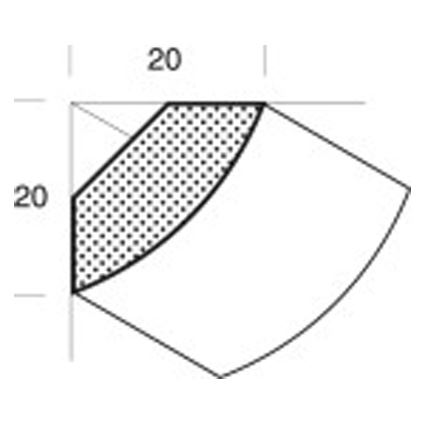 drevená masívna lišta borovica kút, roh vnútorný FK, cena za 1 m