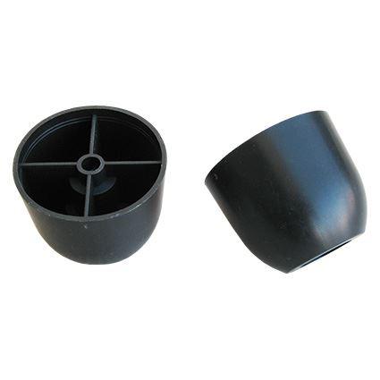 kluzná nožka pod nábytek kruhová s otvorem pro vrut, plastový oblý, výška 60mm, průměr 75mm