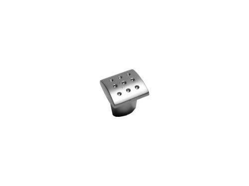 nábytková úchytka, kovová knobka čtvercová 12621, 12622, VÝPRODEJ