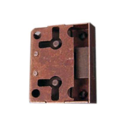zámek k retro nábytkovým dvířkům na vrch na obyčejný klíč, starozlato, klíček zvlášť