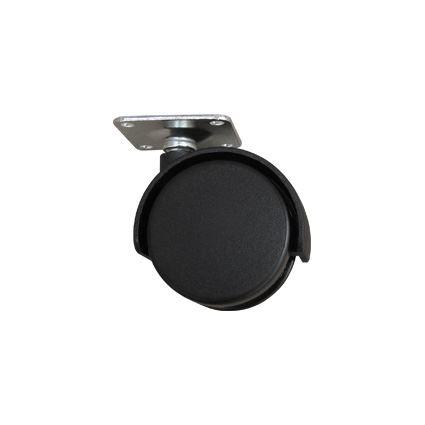 kolečko plastové černé k nábytku průměr 50mm