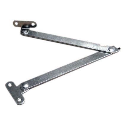 vzpěra barových dvířek sklopných dolů, lámací nůžky dovoz, nikl, 20 cm