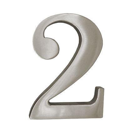 číslo domovní fasádní - kovové, barva matný nikl, 100mm, na dveře, na dům