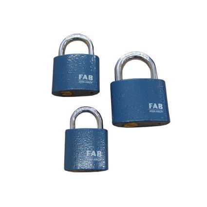visací zámek FAB 30H, ve třech velikostech, 2. stupeň bezpečnosti, 3 klíče