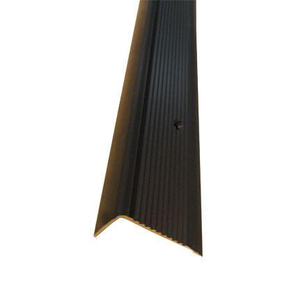 ochranná lišta na hranu schodu na priskrutkovanie, profil 45 x 23 mm, eloxovaný hliník