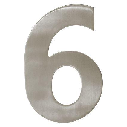 číslo domovní fasádní - kovové, nerez,  výška 150mm, na dveře, na dům