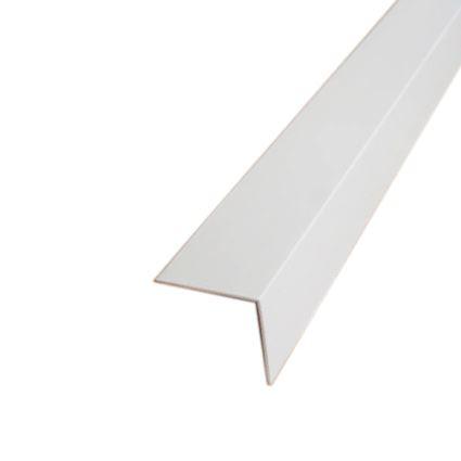 plastová ochrana rohu stěny proti poškození k nalepení, roh 30x30mm, délka 2,75m, hladký